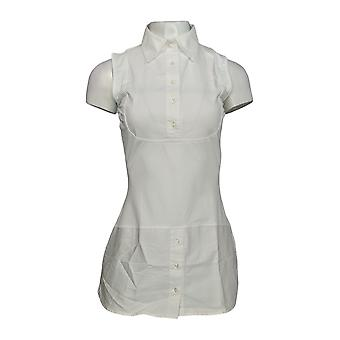 Kathleen Kirkwood Women's Top Dictrac-Ease Shirttail White A311148