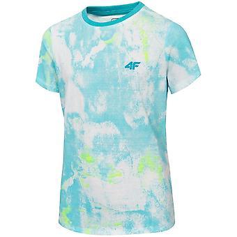 4F JTSM018 HJL20JTSM018NIEBIESKI universele zomer vrouwen t-shirt