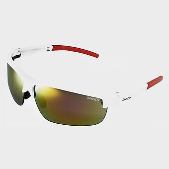 Nieuwe Sinner Men's Antigua zonnebril wit/rood