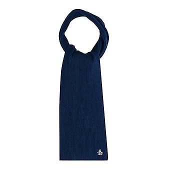 Accessories Original Penguin Basic Ribbed Scarf in Blue