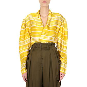 Dries Van Noten 107849408202 Women's Geel Viscose Shirt
