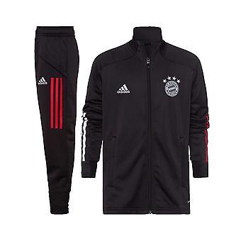 2020-2021 Bayern Mníchov Adidas PES Tepláková súprava (Čierny) - Deti