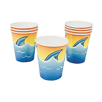8 Jawsome Shark Paper Party Cups