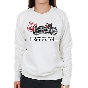 Route 66 The Mother Road Motorcycle Women's Sweatshirt