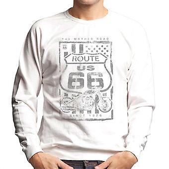 Route 66 Mother Road Patriot flag mænd ' s sweatshirt