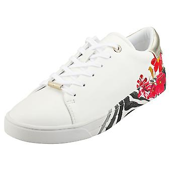 Ted Baker Lennes Womens Fashion Trainers in Ivory
