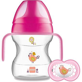 MAM Learn To Drink Cup & Handles 190ml Plus Soother