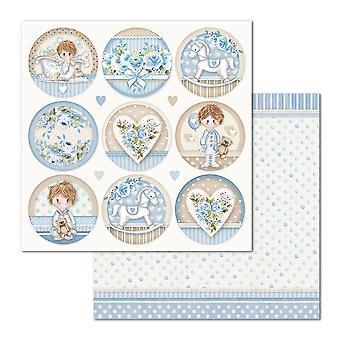 Stamperia Little Boy Runde 12 x 12 Zoll Papierblätter (10pcs) (SBB685)