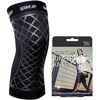 Spark Kinetic Knee Sleeve - Compression Support with Embedded Kinesiology Tape
