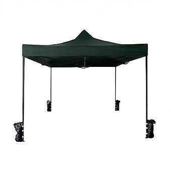 Rebecca Furniture Gazebo Handdoek herslieerbare Green 4 Gewichten Metaal Polyester 3x3