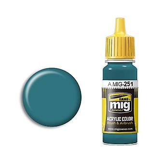 Ammo by Mig Acrylic Paint - A.MIG-0251 Russian Blue AMT-7 (17ml)