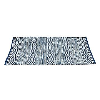 Country Club PET Rug Diamond Stripe, Navy 70 x 130cm