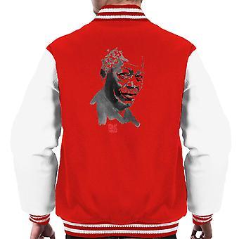 Sumi E Morgan Freeman Portrait Men's Varsity Jacket