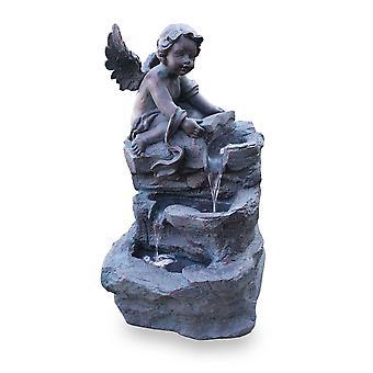Garden Fountain Figure Fountain Water Feature FoAngelo Led 70cm 10906