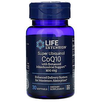 Life Extension, Super Ubiquinol CoQ10 mit verbesserter Mitochondrienunterstützung, 100 m