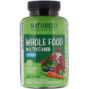 NATURELO, Whole Food Multivitamin for Men, 120 Vegetarian Capsules