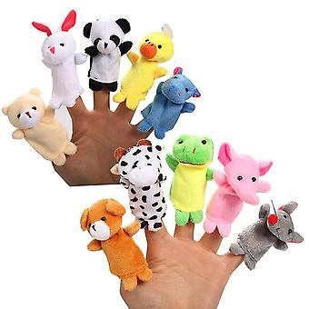 10 pezzi Oceano Animal Finger Puppets Set, Soft Baby Educational Hand Toy