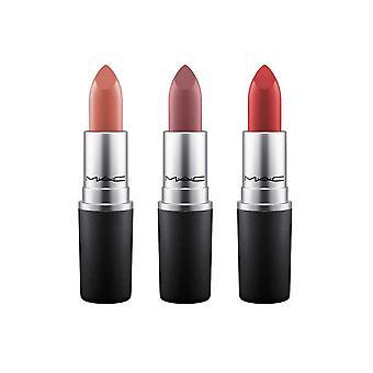 Mac M.A.C Full Size Lipstick Trio - Mocha (Satin) Dubonnet (Crème amplifiée), Tourbillon (Matte)