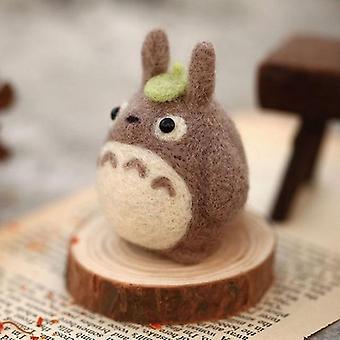 Cute Totoro Kitting DIY Non Finished Wool Felting Doll For Girls