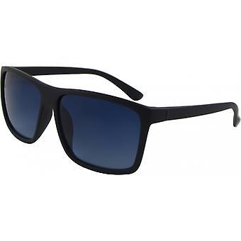 Sonnenbrille Unisex  Wayfarer Kat. 3 matt schwarz/blau (Basic 168-B)