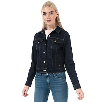 Frauen's Levis Original Trucker Jacke in blau