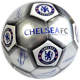 Chelsea Signature Silver Football Size 5 CH05652