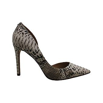 BCBG Women's Shoes 34BC1115-BRM Snakeskin Pointed Toe D-orsay Pumps