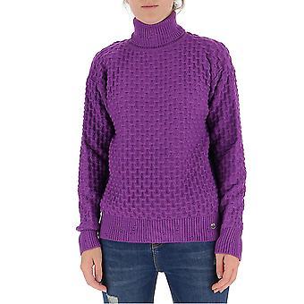 Pinko 1b14x2y6qpw06 Kvinder's Lilla Viskose Sweater