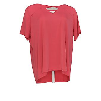 Alison Taylor Women's Plus Top Short Sleeve Coral Red