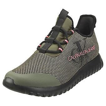 Calvin Klein Reiland Mens Fashion Trainers in Olive