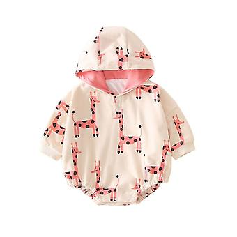Infant Cotton Romper Snap Button Hooded One Piece