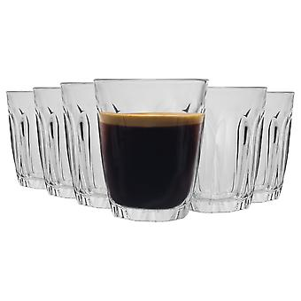 Duralex Provence Shot Glass Espresso Cups - 90ml Drinking Glasses - Pack of 6
