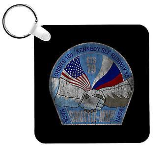 NASA STS 79 Atlantis Mission Badge Distressed Keyring