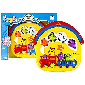 Toy sign musical train - with different sounds of farm animals