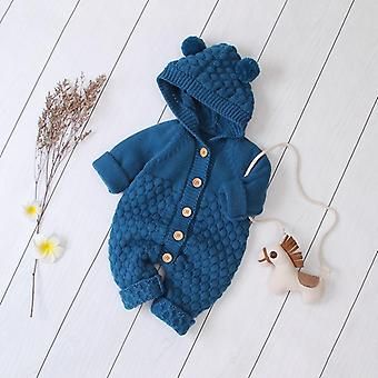 Autumn/winter Hooded Rompers- Long Sleeve Sweaters For Newborn Baby