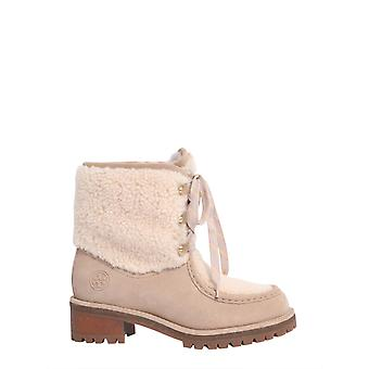Tory Burch 49197256 Women's Nude Leather Ankle Boots