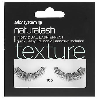 Salon System  Naturalash - Texture - No 106 Reusable Eyelashes - (adhesive Included)