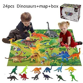 Dinosaur Animals Model Simulation Pterosaur, Ankylosaurus Thorn Dragon Figures