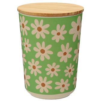 Puckator Daisy Bamboo Storage Jar, Medium