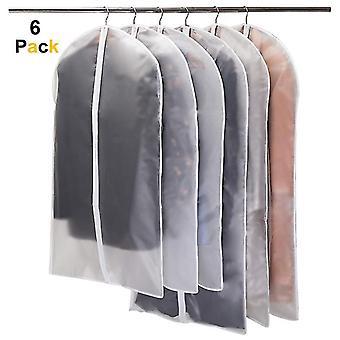 6pcs Dustproof Cloth Cover Bags Transparent Wardrobe Storage Bag Dust Cover Clothes Protector Garment Suit Coat Dust Cover