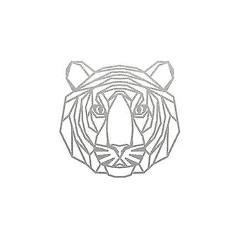 Geometric Tiger Wall Hanging