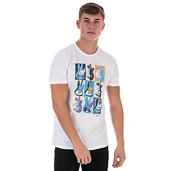 Men's Ben Sherman Warhol Print T-Shirt in weiß