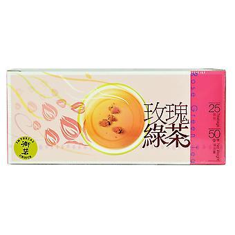Sachets de thé vert rose (boîte) 50g