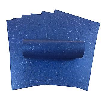 10 Feuilles A4 Yale Blue Iridescent Sparkle Card Qualité 300gsm