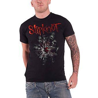 Slipknot T Shirt Shattered Band Gray Chapter logo Official Mens Black