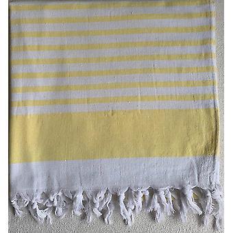 Aqua Perla Antalya turecki ręcznik żółty peshtemal i bawełna terry