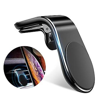 Mini Air Vent Clip Mount Mobile Stand For Phone Metal Magnetic Car Phone Holder