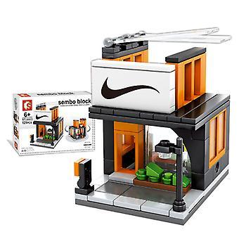Building Blocks Sembo City Street Store Building Blocks Model