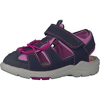 RICOSTA Fermé Orteil Ouvert Heal Sandal Grey & Pink