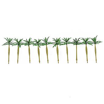 10pcs Model Coconut Trees Architecture Trees for DIY Scenery Landscape House